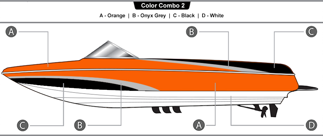 shark color combinations – available on 215 and 237 models